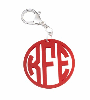 Monogrammed Keychain from Swoozies.com #monogram #gift