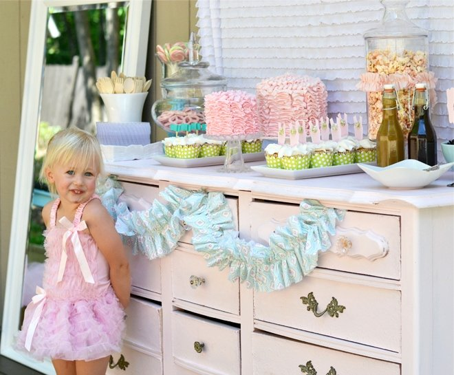 Tutus and Bow Ties Birthday Party on pizzazzerie.com #birthday #party