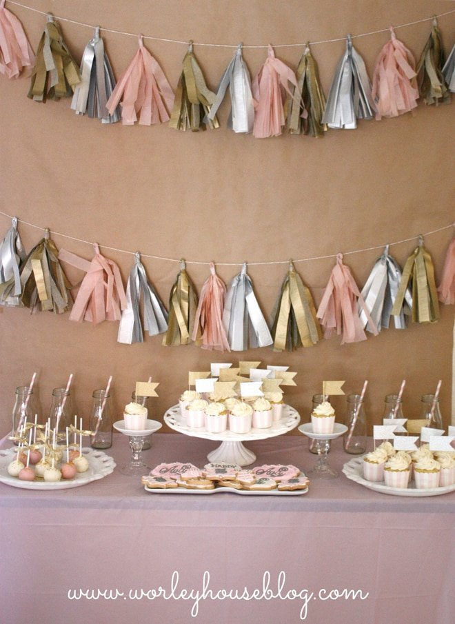CUTE Pink + Gold Party Ideas!