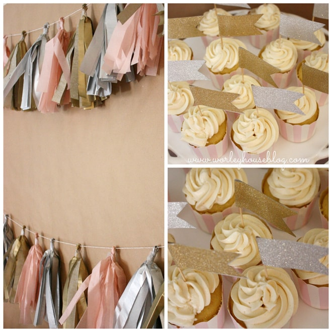 Cute Pink + Gold Party Ideas! Must Save!