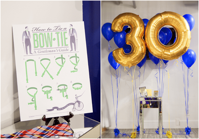 A Dapper 30th Birthday Party Bash