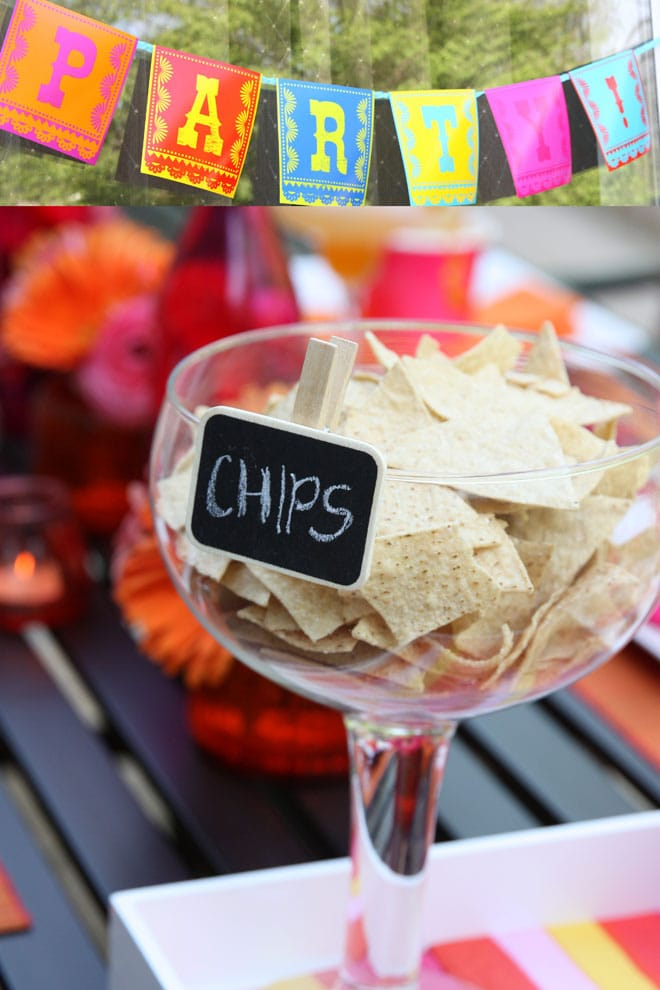 Fiesta Party with Chalkboard Labels