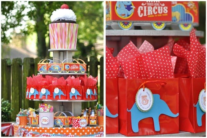 Circus Carnival Birthday Party on pizzazzerie.com #circus #party