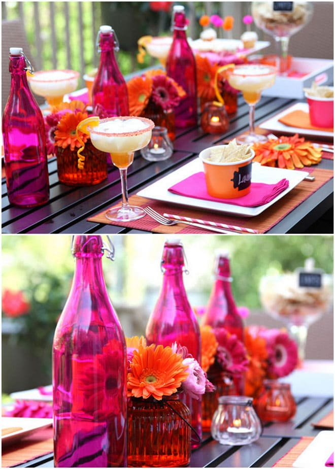 Cinco de Mayo Party Table for a festive Girl's Night In, fiesta style!