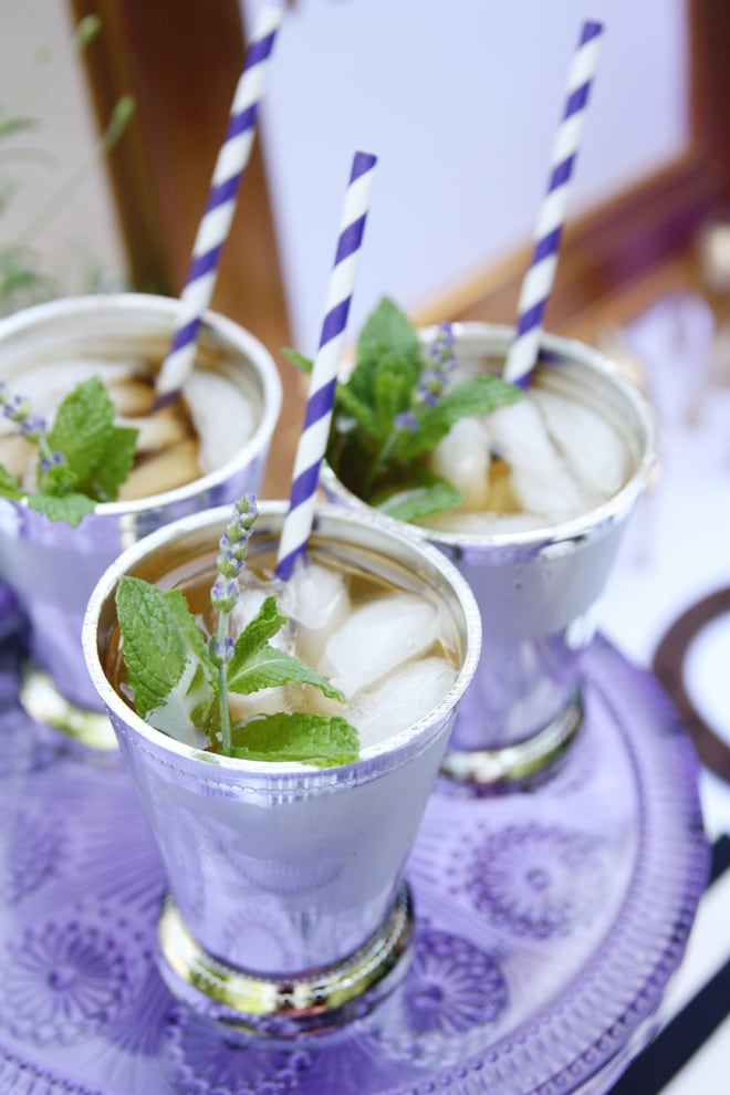 Lavender Mint Juleps for a sweet Derby Party