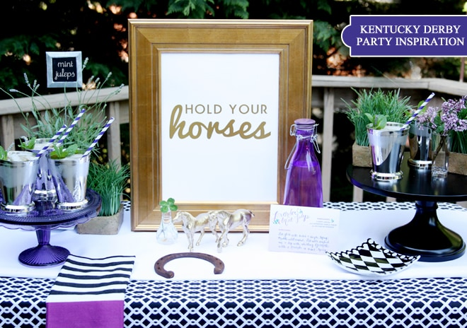Gold + Lavender Derby Party Ideas!