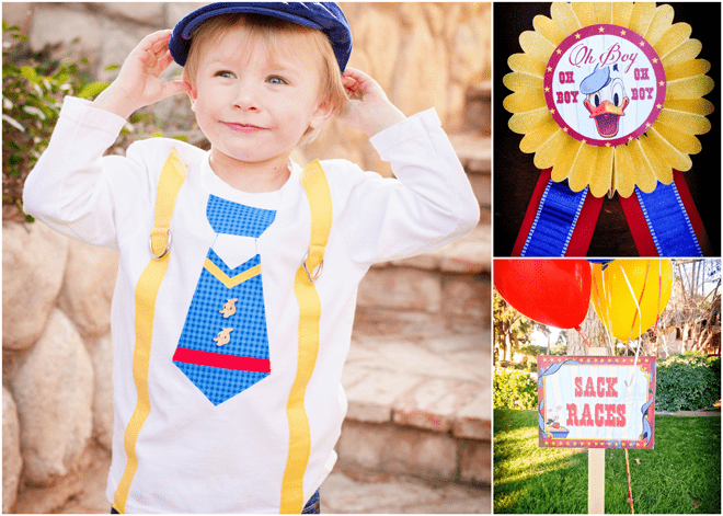 Vintage Donald Duck County Fair Birthday Party on pizzazzerie.com #birthday #party