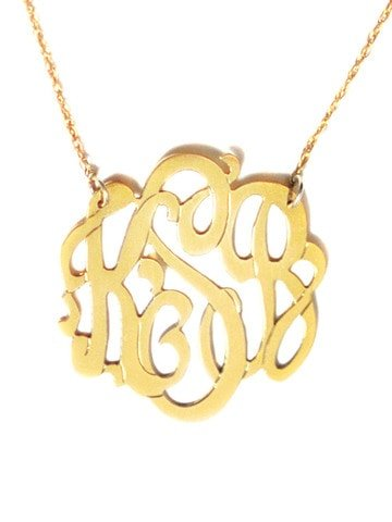 Gold Monogram Necklace, Perfect Mother's Day Gift