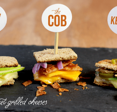 Mini Gourmet Grilled Cheeses! Repin + save for the perfect party food! by pizzazzerie.com