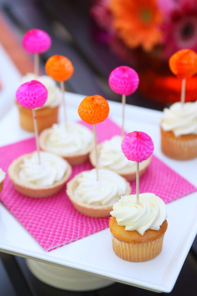 Little pom poms make even simple desserts oh so festive!