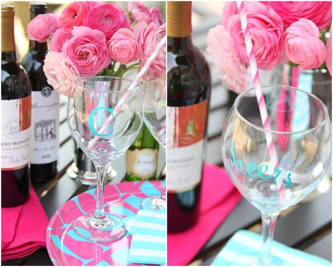 How to make monogrammed + personalized wine glasses!