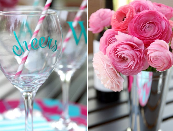 Personalized Wine Glasses using the Silhouette Machine! Cute gift!