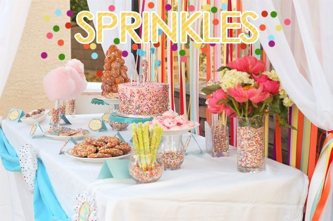 Sprinkles Themed Birthday Party on pizzazzerie.com #birthday #party #sprinkles