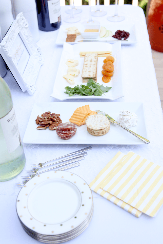 "Wine and Cheese Pairing Party for the ""Perfect Pair"" Bridal Shower"