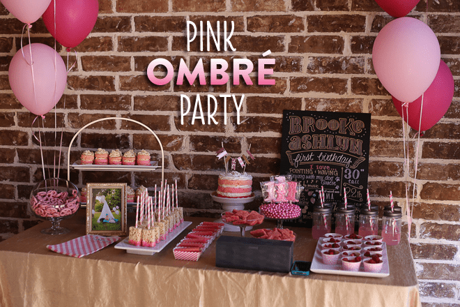 Sweet Pink Ombre Birthday Party Pictures + Inspiration!