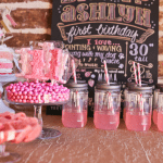 Sweet Pink + Gold Ombre Birthday Party