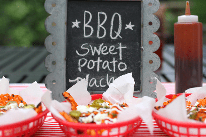 Grilled BBQ Sweet Potato Nachos!