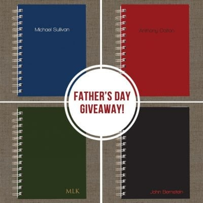 Father's Day Giveaway - Men's Notebook Collection