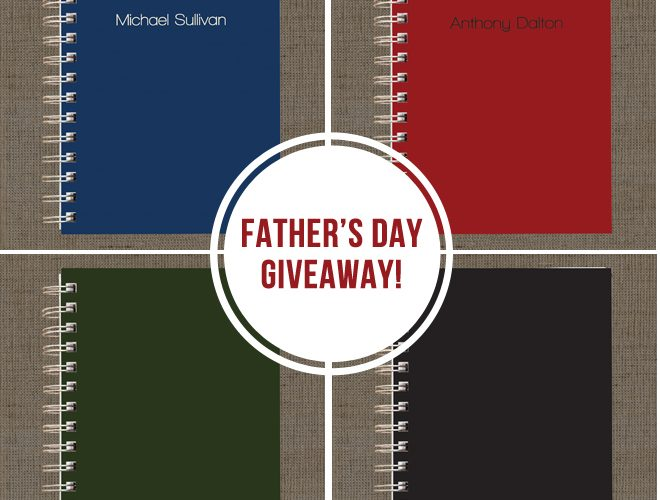 Father's Day Giveaway {Men's Notebook + iPad Cover}