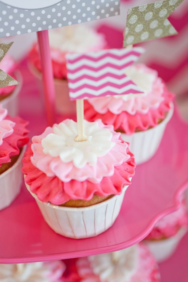 Hot Pink Chevron Ombre Bridal Shower Pizzazzerie