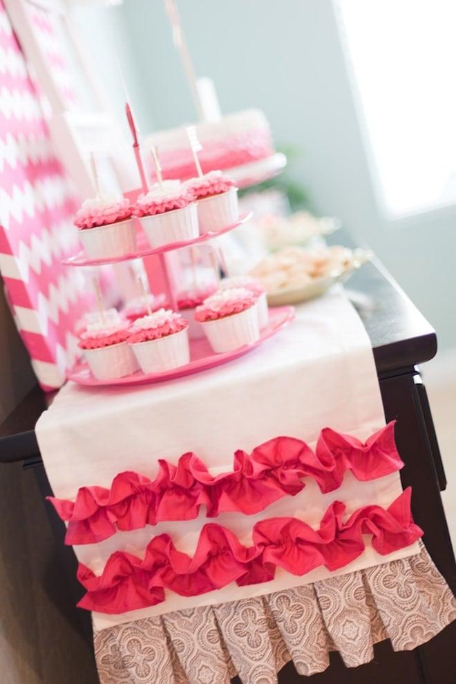 0a52c5bd1d9 Hot Pink Chevron + Ombre Bridal Shower!