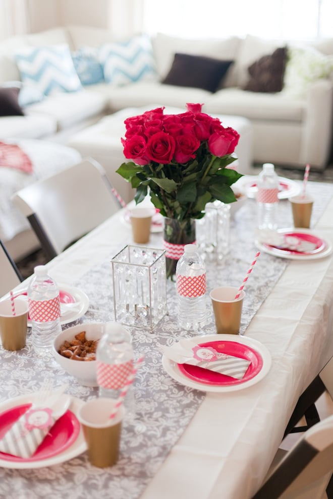 Pink Floral Bridal Shower