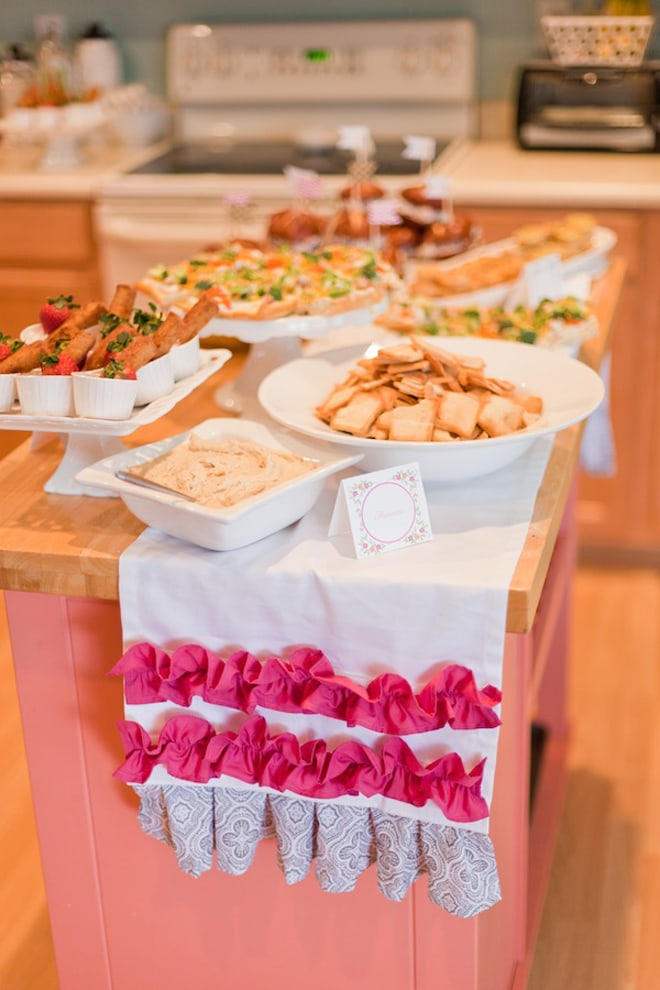 Cutest Bridal Shower Food Tent Cards