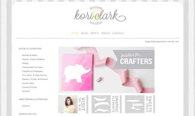 Graphics Shop for Bloggers, Crafters, Party Designers, KoriClark.com