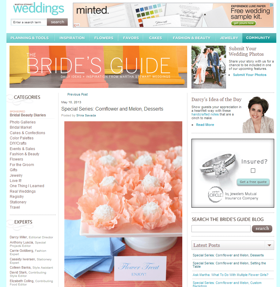 Pizzazzerie featured on @MarthaWeddings