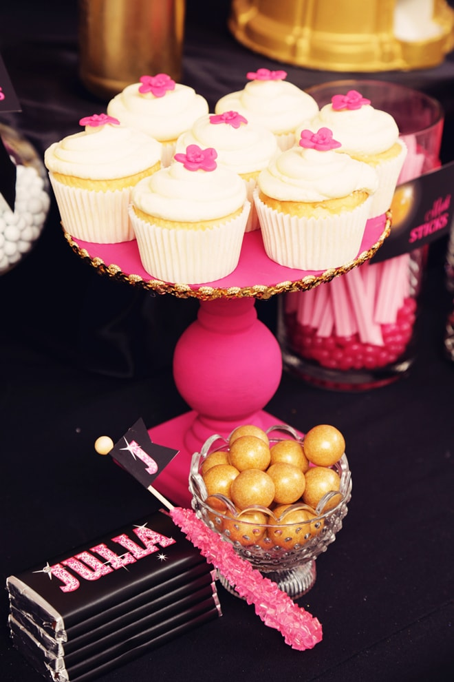 Cute Glam Disco Party Cupcakes!