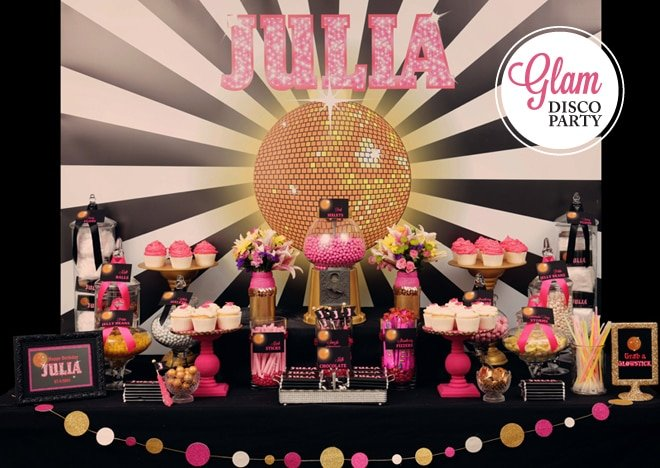 Cute & GLAM Disco Birthday Party!