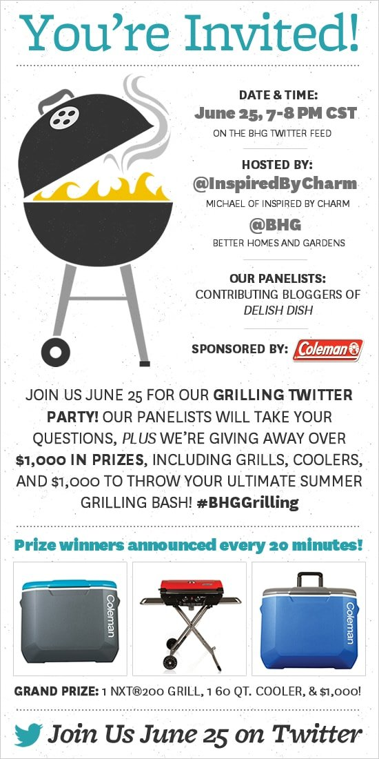 Grilling Twitter Party with Better Homes and Gardens!