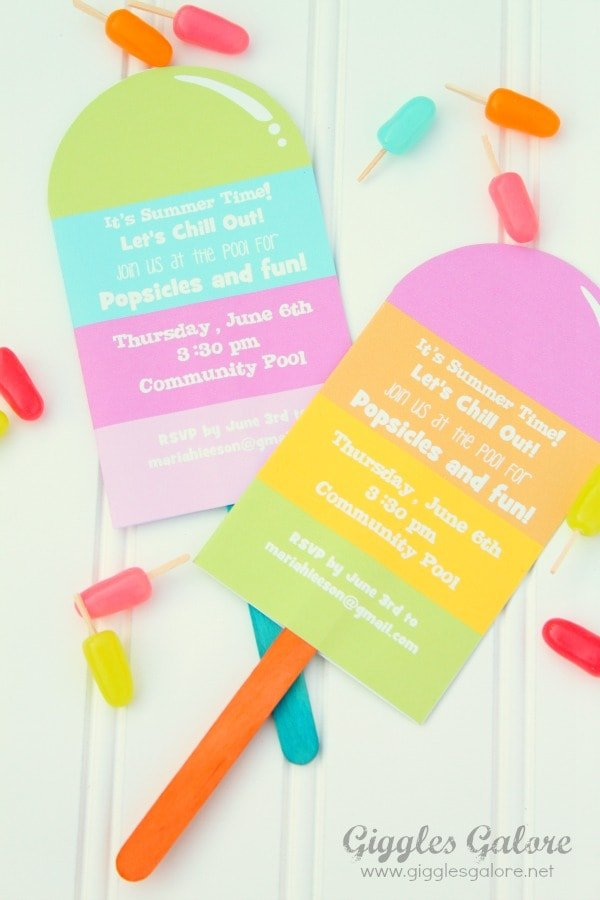 Popsicle Party Invitation
