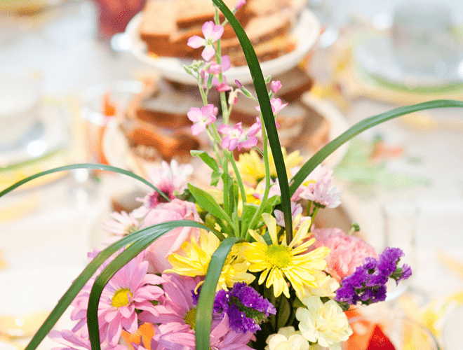 {Party Feature} Colorful Little Girl's Tea Party!