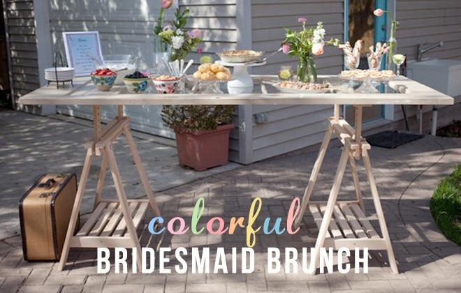 Colorful Backyard Bridesmaids Brunch