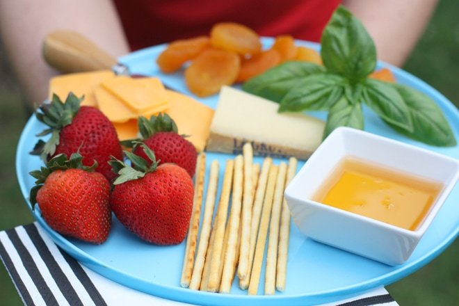 How to style a cheese plate (using a cute cake stand) by Pizzazzerie.com