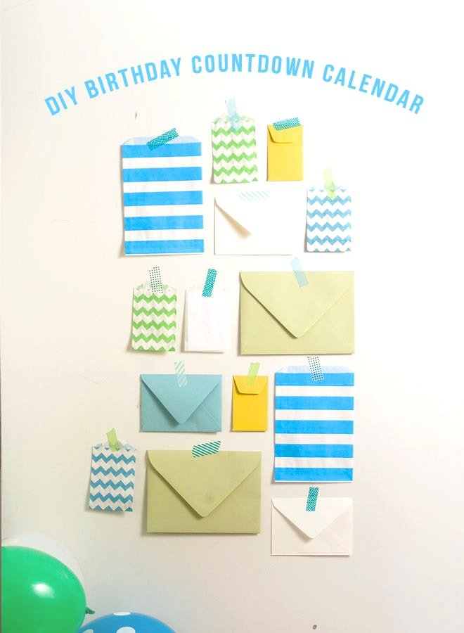 DIY Birthday Countdown Calendar!