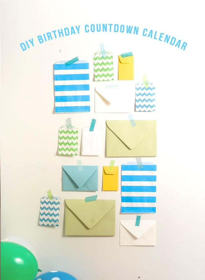 DIY Birthday Countdown Calendar!