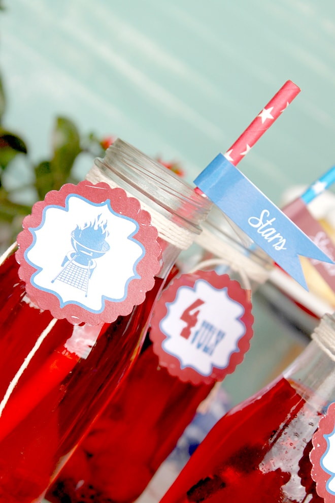 4th of July Party Inspiration with Free Printables on Pizzazzerie.com