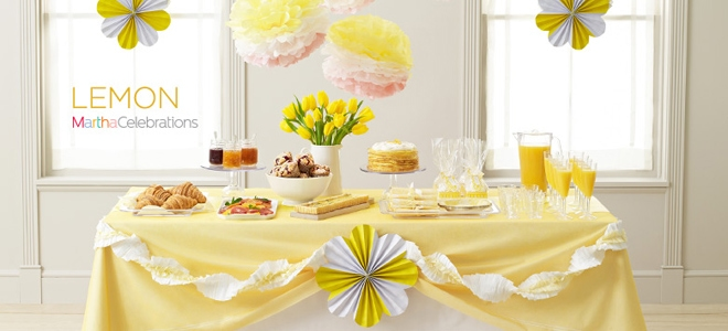 Lemon Yellow Party Table