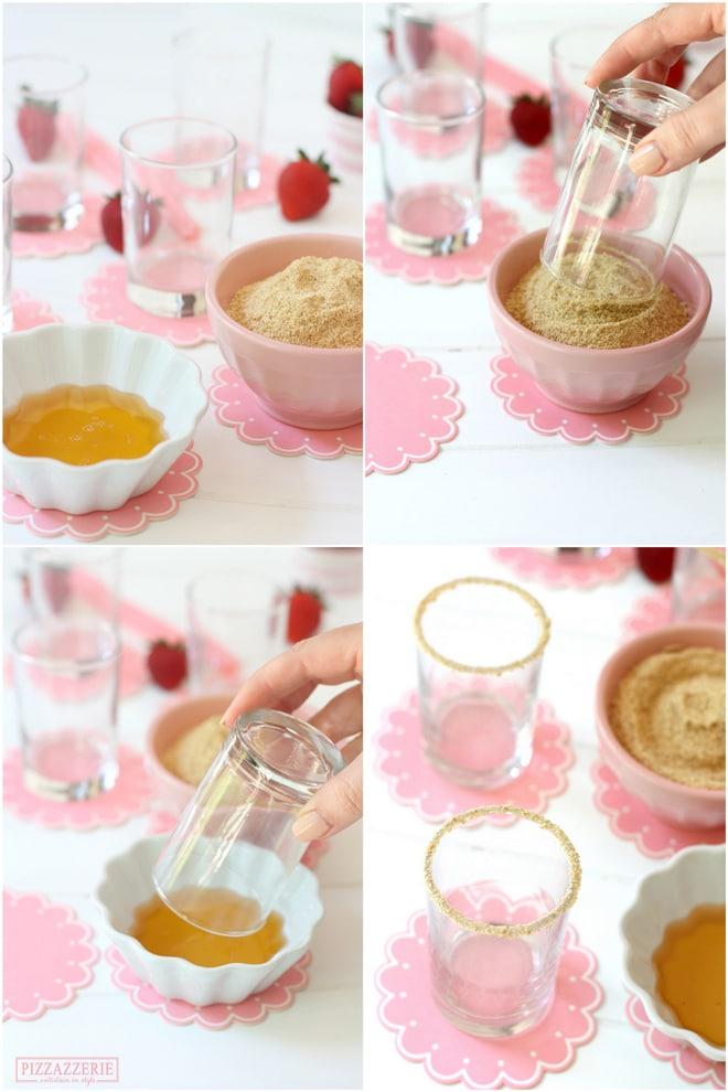 Rimming Strawberry Shortcake Milkshakes!