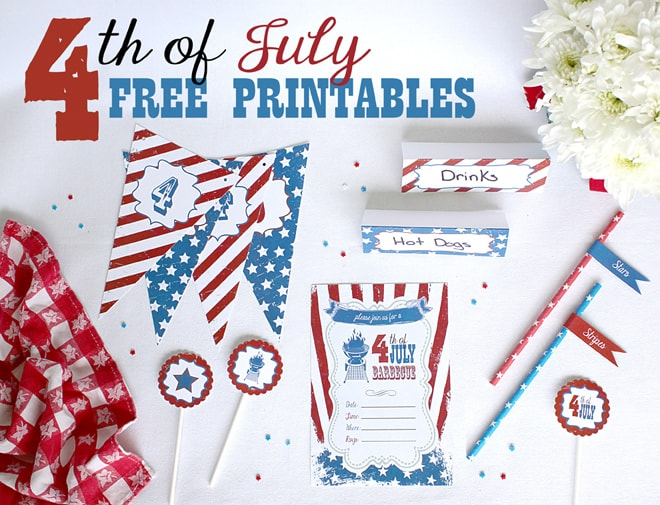 Free 4th of July Party Printables! #free #party
