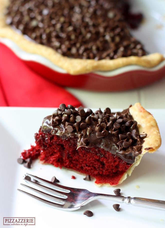 Red Velvet Fudge Pie! OH so delicious!