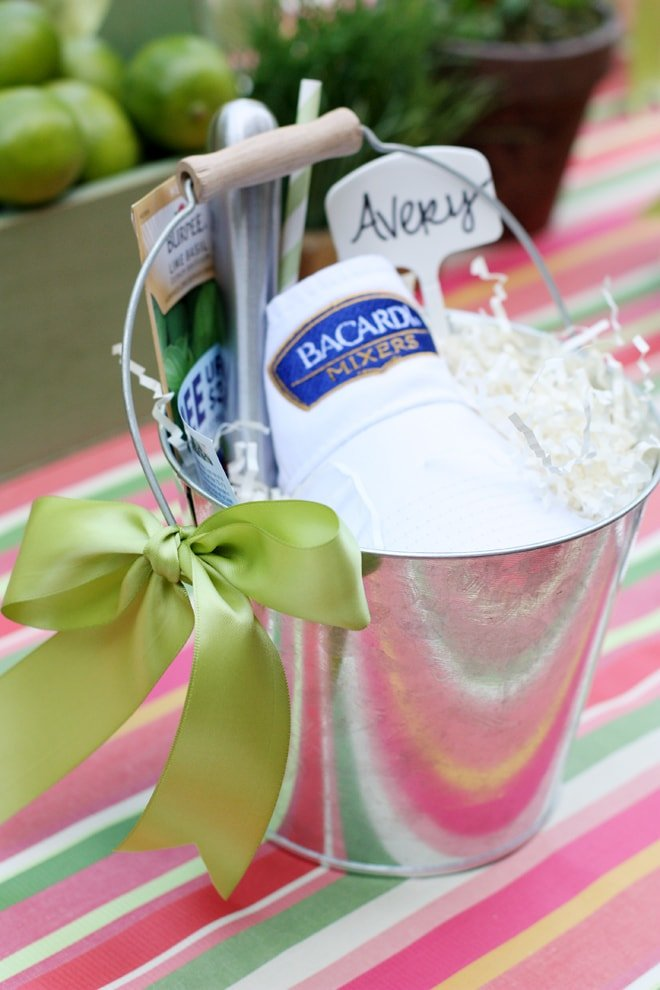 BACARDI Favor Buckets for a Summer Garden Dinner Party!