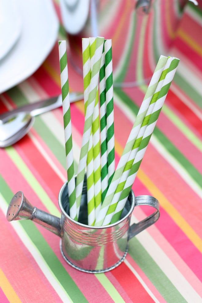 Cute striped straws liven up a summer party!