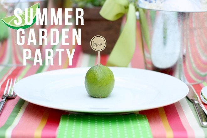 Throw a Summer Garden Dinner Party!