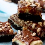 Triple Toffee Brownie Bars made with a secret ingredient!