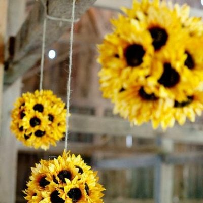 Summer Sunflower Pomander Ball Decoration!