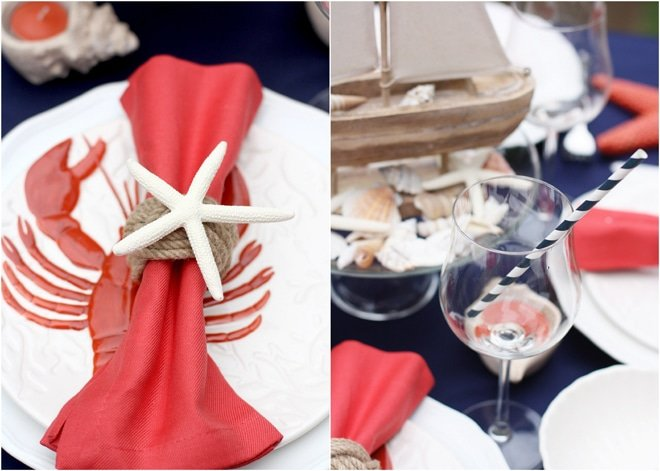 Nautical Cape Code Tablescape Details