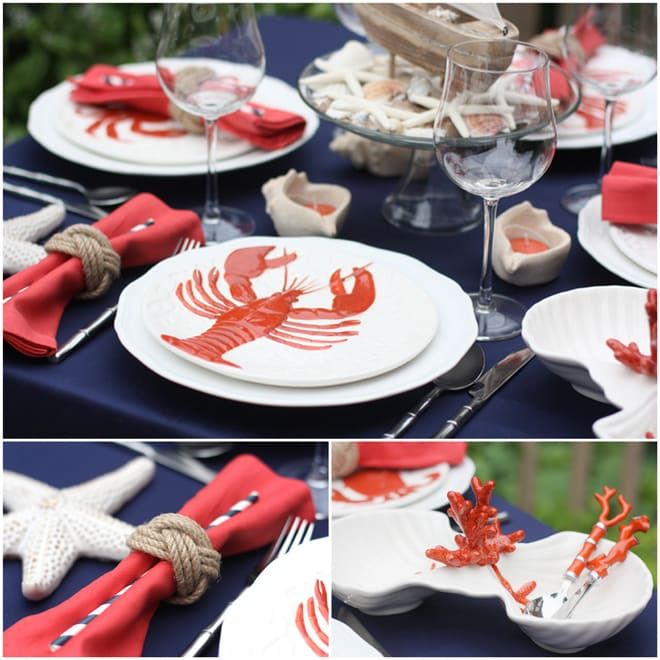Nautical Cape Cod Style Tablescape
